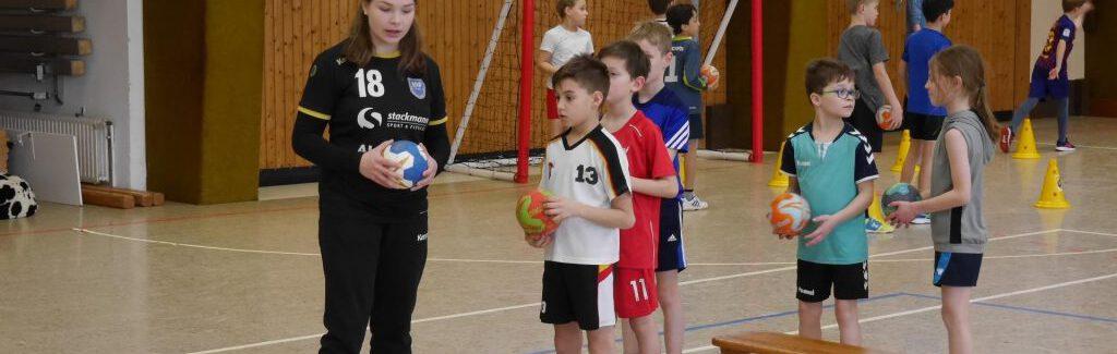 Grundschulaktionstag 2020: Der Bundesliga-Handball zu Gast in Dollern