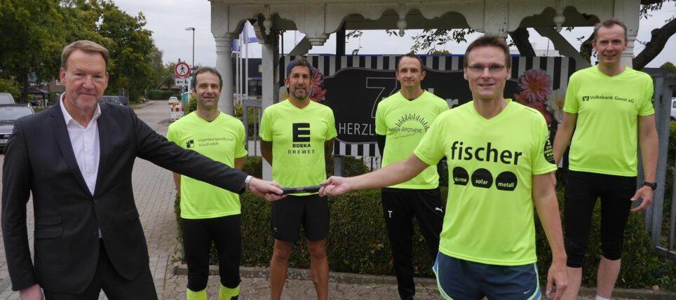24-Stunden für den guten Zweck: Läufer sammeln 3100 Euro in Dollern